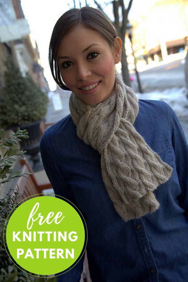 Nickel & Dime Scarf Free Knitting Pattern