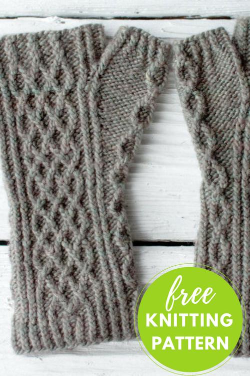 Hasbrouck Fingerless Mitts Free Knitting Pattern
