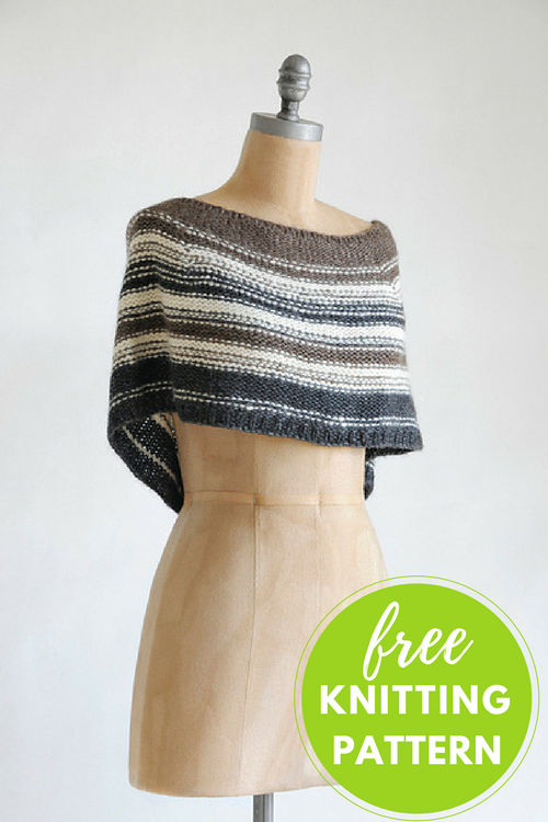 Shadow Capelet Free Knitting Pattern