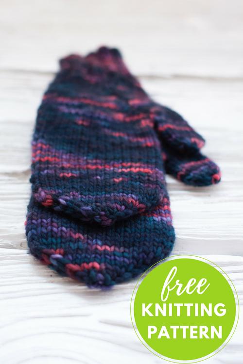 Handful of Berries Mittens Free Knitting Pattern
