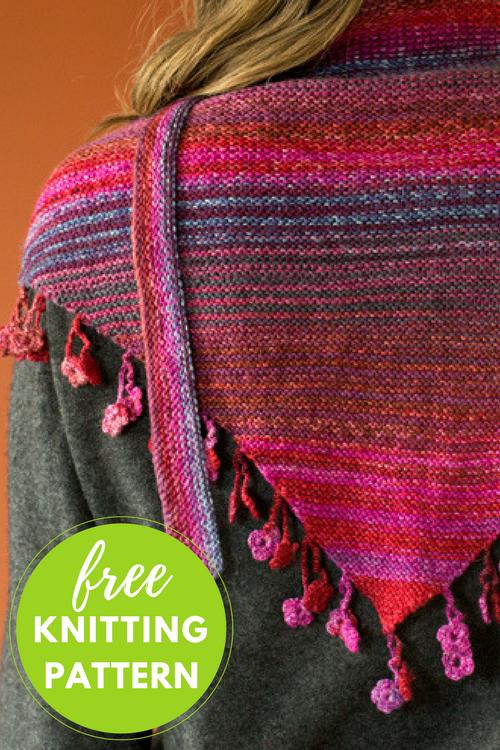 Desert Shawl Free Knitting Pattern
