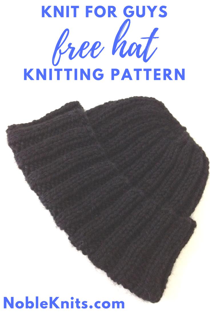 Knit for Guys Free Hat Knitting Pattern