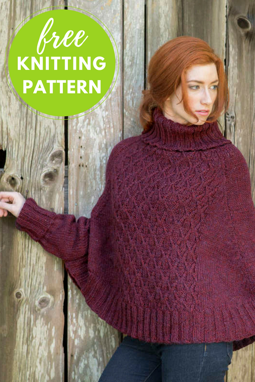 Galilee Poncho Sweater Free Knitting Pattern