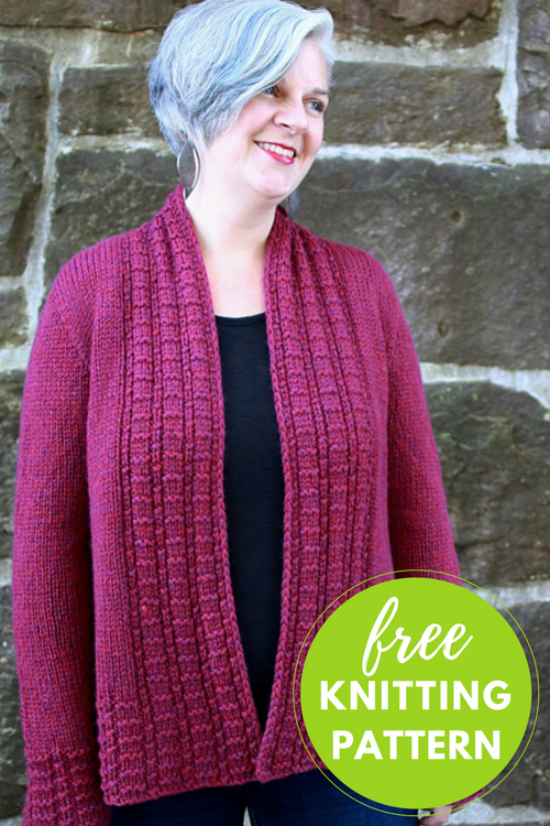 Peverly Cardigan Free Knitting Pattern