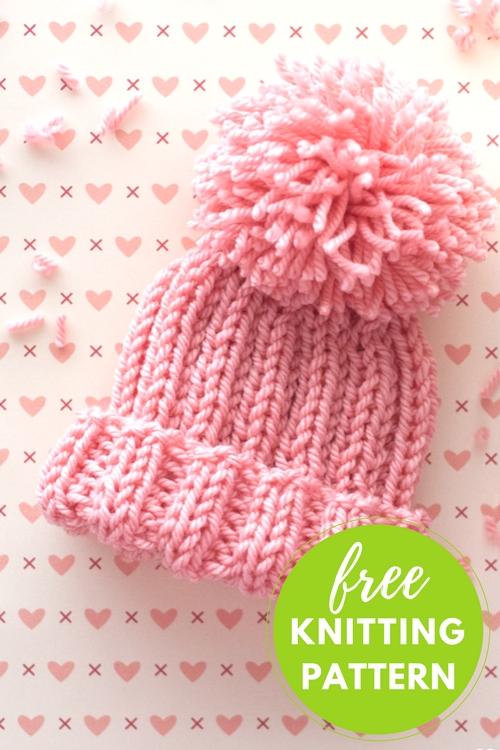 Half Pipe Hat Free Knitting Pattern