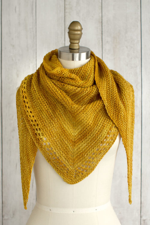 Triangular Free Scarf Knitting Pattern