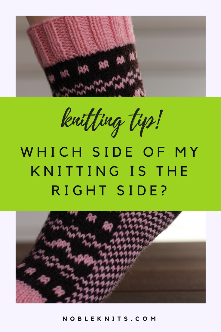 Which side of my knitting is the right side?