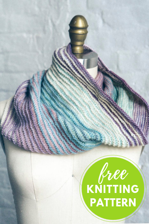 Easy Knitting! Shadow Cowl Free Knitting Pattern