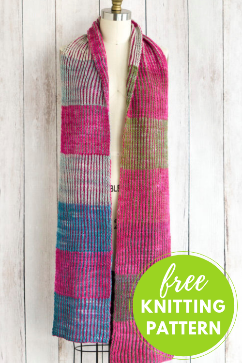 Byberry Brioche Scarf Free Knitting Pattern