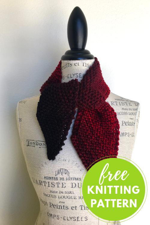 Diagonal Ombre Scarflette Free Knitting Pattern