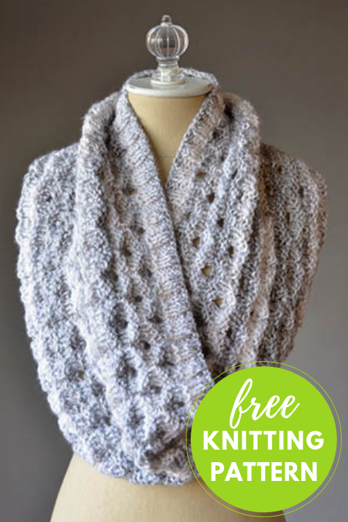 Knitting in the Round - Porthole Cowl Free Knitting Pattern