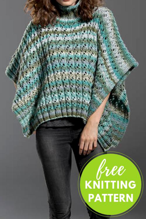 Free Knitting Pattern! Hidden Treasure Poncho
