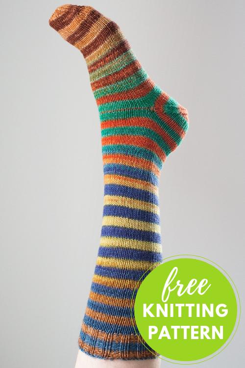Classic Top Down Socks Free Knitting Pattern