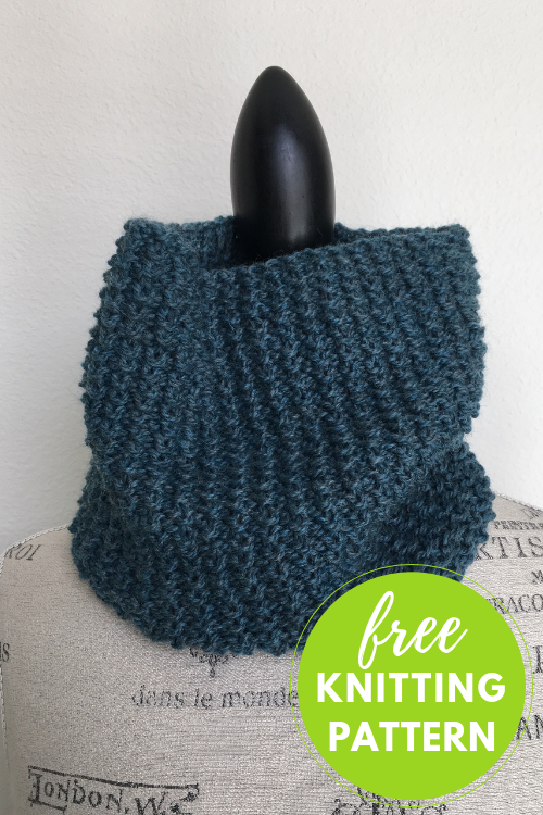 Easy One Skein Free Knitting Pattern: Mercado Cowl