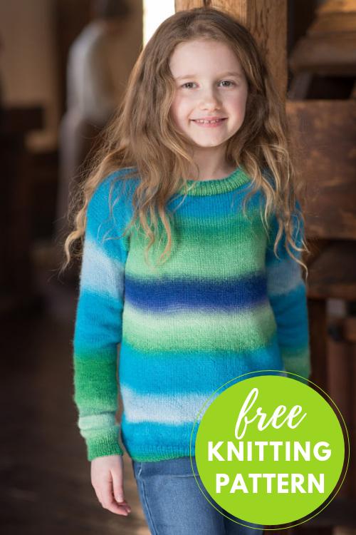 Jesse Kid's Sweater Free Knitting Pattern