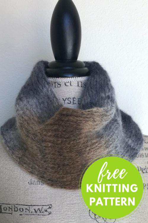 Aero Cowl: Easy One-Skein Free Knitting Pattern