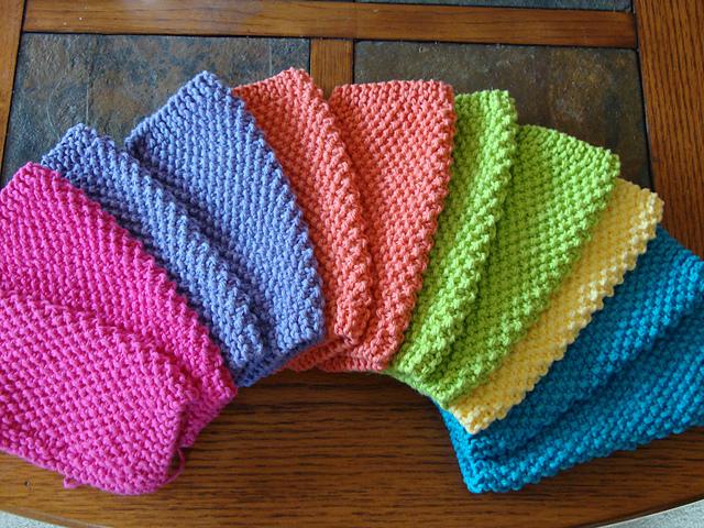 Simple Seed Stitch WashCloth Free Knitting Pattern