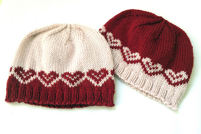 Free Knitting Patterns for Heart and Valentine Lovers