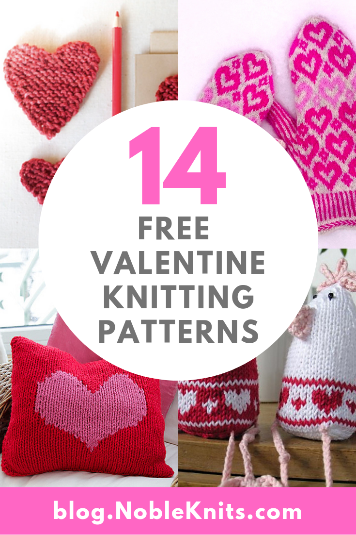 14 Free Valentine Knitting Patterns to Knit Your Way Into Someone's Heart!