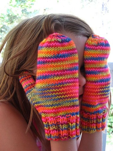 Beginner Mittens Knitting Patterns on Two Needles