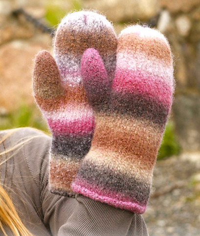 Easy to Knit Mittens on 2 Needles