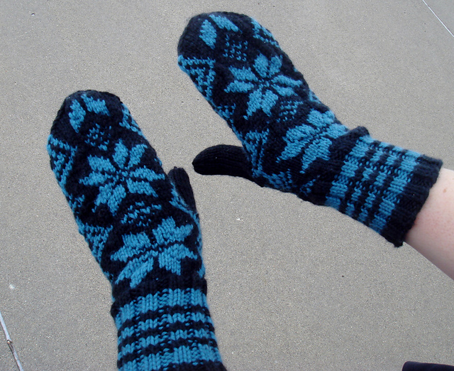 Easy Mittens on 2 Needles