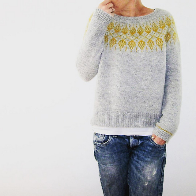 Yoke Neck Sweaters You Have to Knit Now