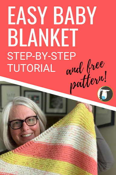 Beginner Knitting Project! Easy Diagonal Baby Blanket Free Knitting Pattern and Step-by-Step How to Video