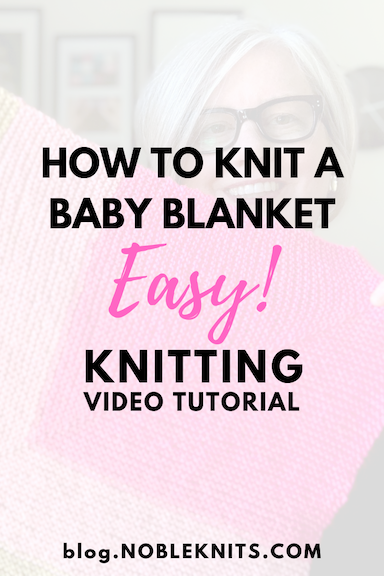 Easy Beginner Baby Blanket Free Knitting Pattern - Includes How to Video!