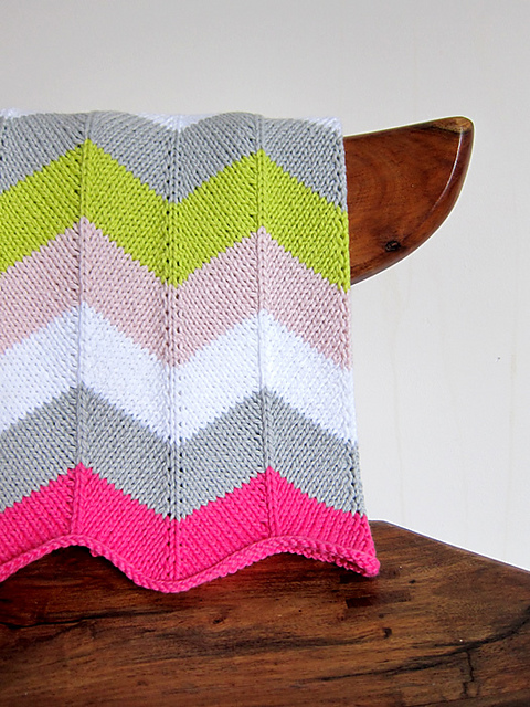 Chevron Baby Blanket and More Free Blanket Patterns!