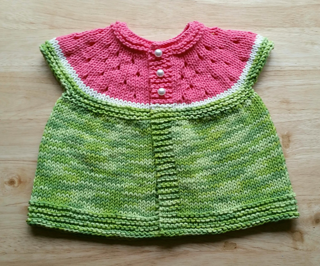 Watermelon Baby Cardigan Free Knitting Pattern