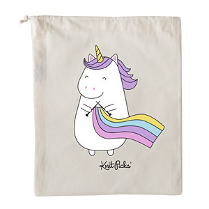 Sparkles the Knitting Unicorn Project Bag