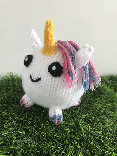 So Sweet! Magical Unicorn Toy Knitting Pattern
