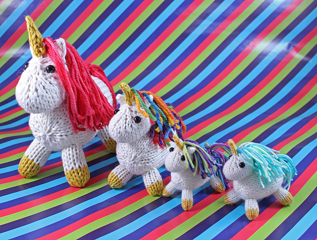 Wickedly Magical Pocket Unicorn Knitting Pattern - Works with any size yarn!