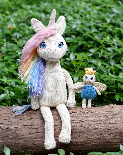 Unicorn and Fairy Friend Stuffed Animal Knitting Pattern