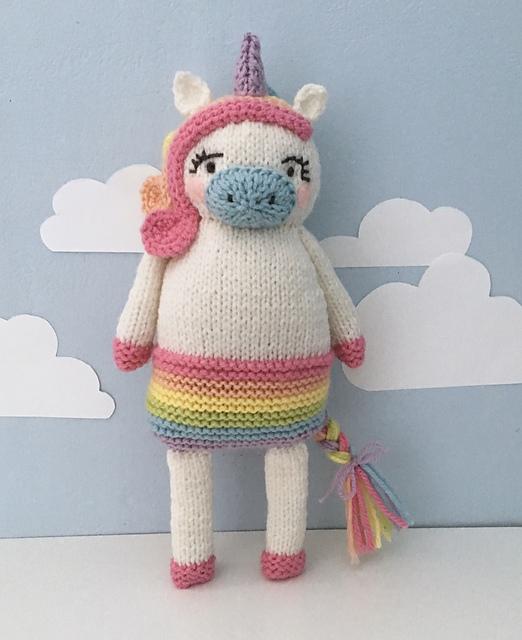 Magical Unicorn Stuffed Animal Knitting Pattern