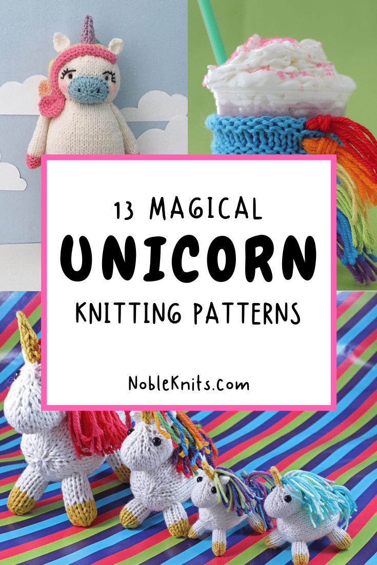 13 Magical Unicorn Knitting Patterns
