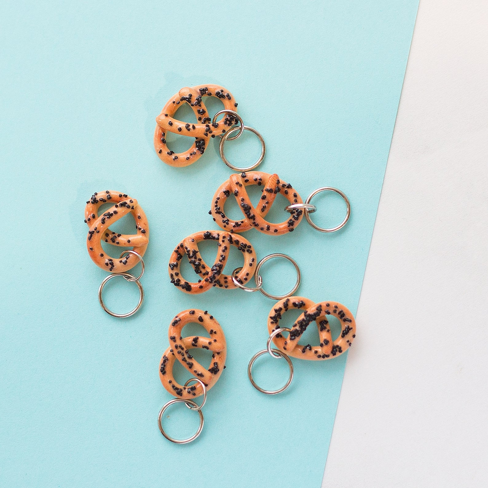 Cute Pretzel Stitch Markers for your Knitting