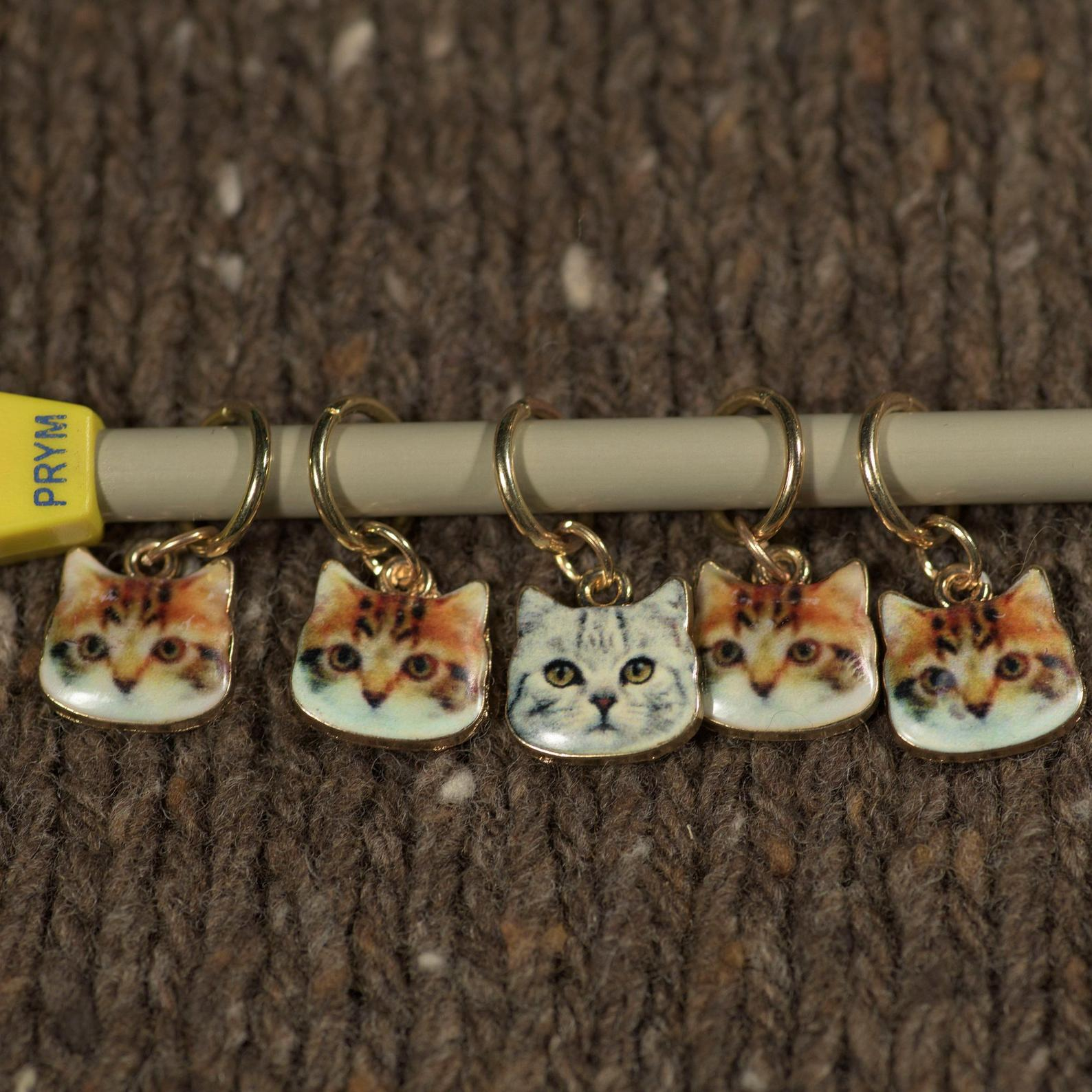 Cute Cat Stitch Markers for Your Knitting