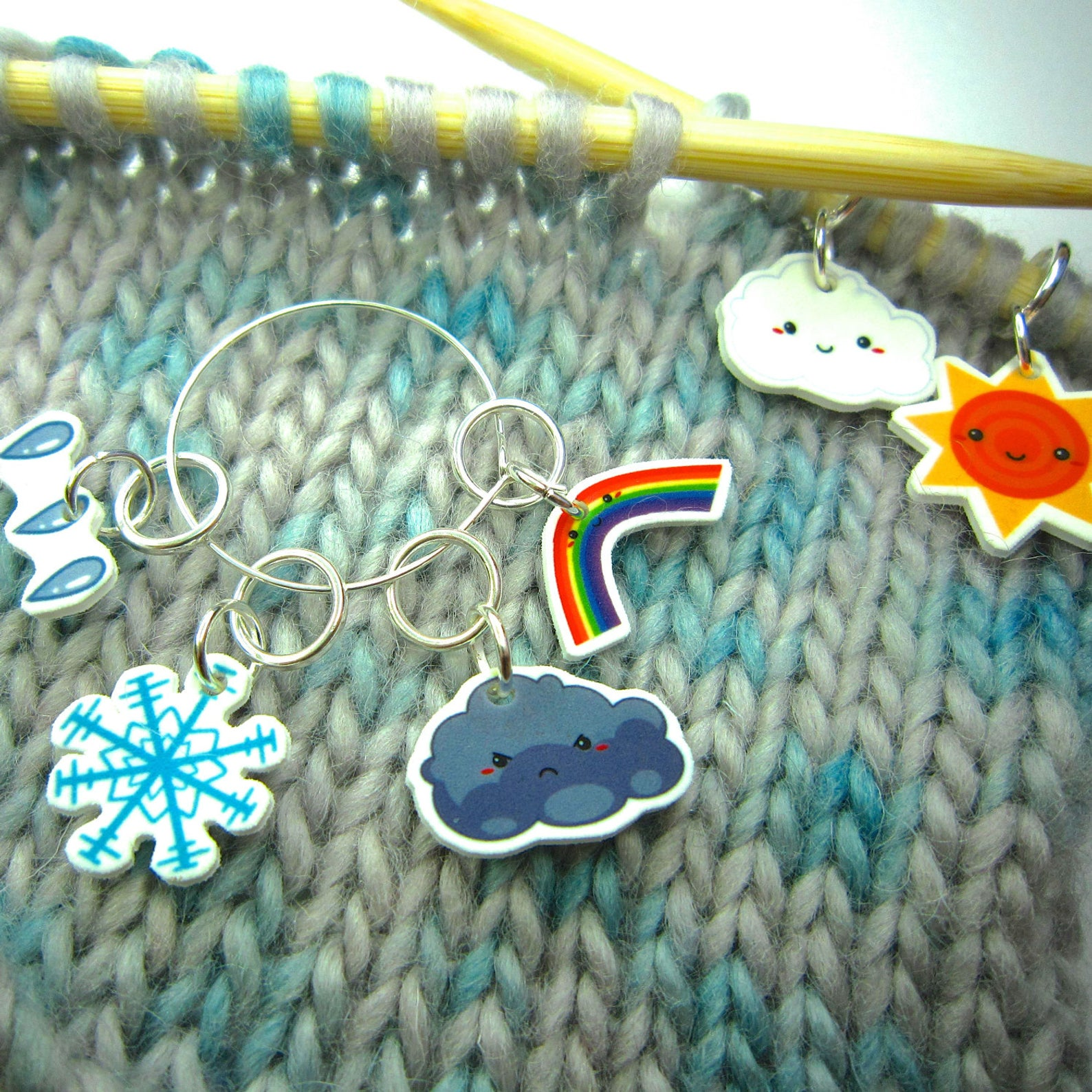 Cute Weather Stitch Markers for Knitting