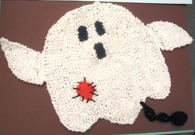 Morticia's Washcloth Free Halloween Knitting Pattern