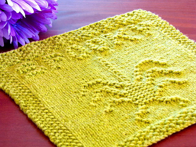 Spooky Spider Dishcloth Free Knitting Pattern