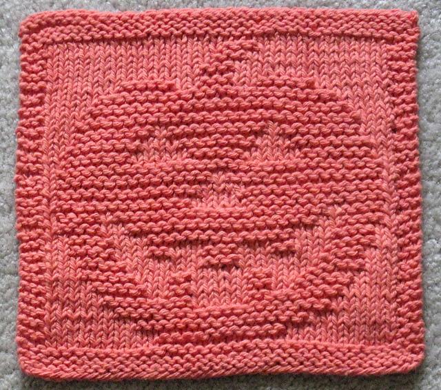 Jack-o-lantern Dishcloth Free Knitting Pattern