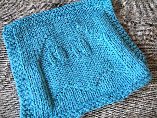 Ghost Dishcloth Free Knitting Pattern