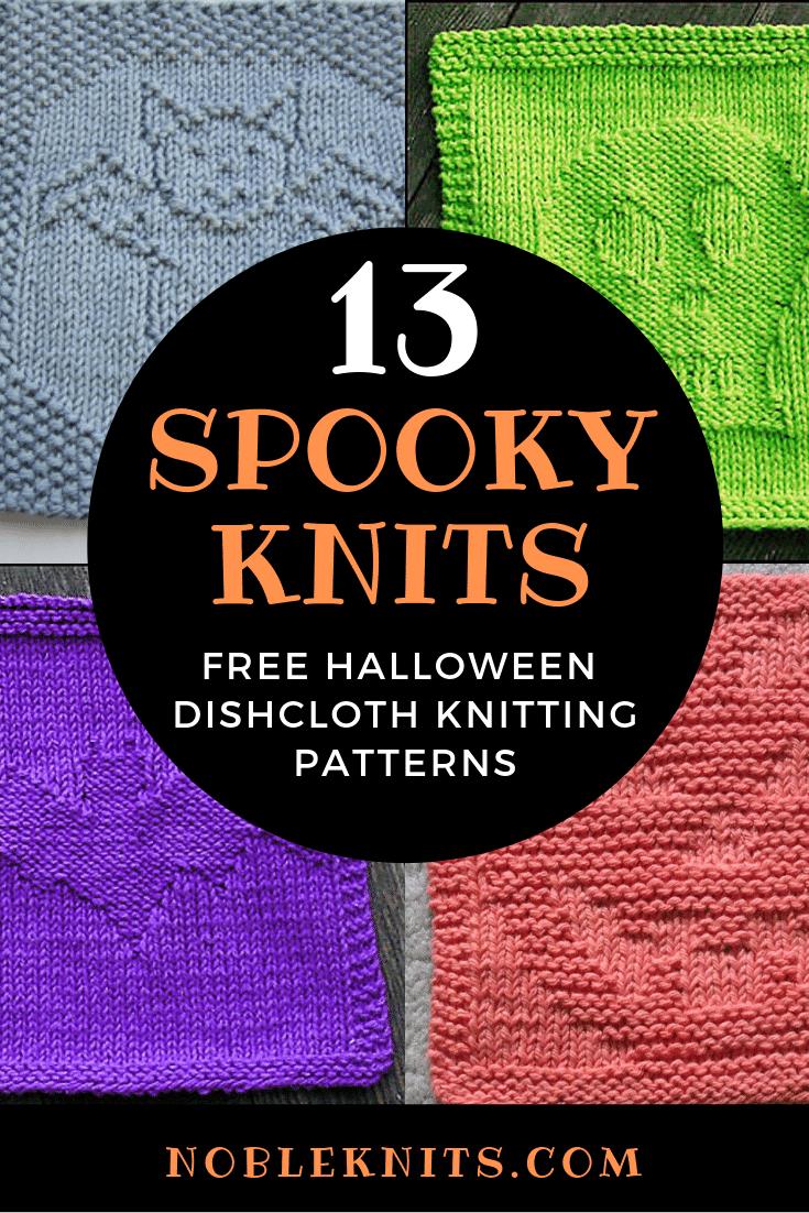 13 Spooktacular Halloween Dishcloth FREE Knitting Patterns