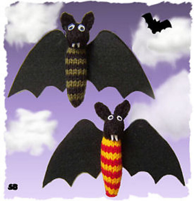 Halloween Treat: House Bats Free Knitting Pattern - Knit them in your Harry Potter House colors OR your favorite colors