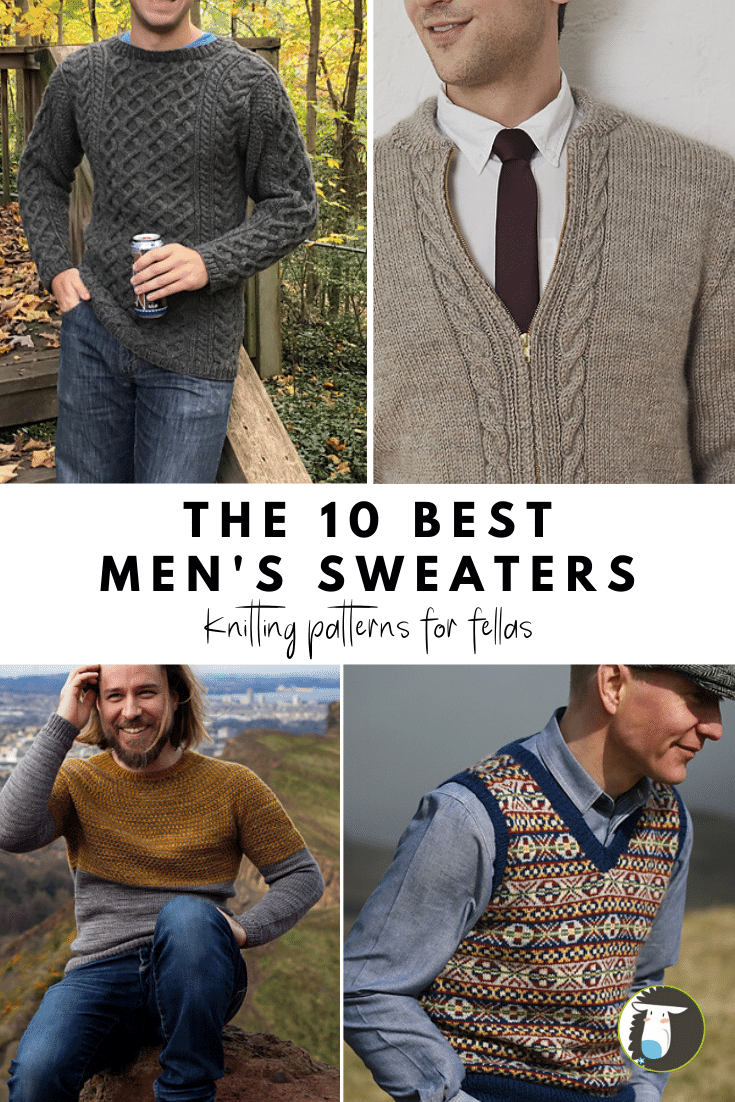 10 Best Men's Sweater Knitting Patterns — Blog.NobleKnits