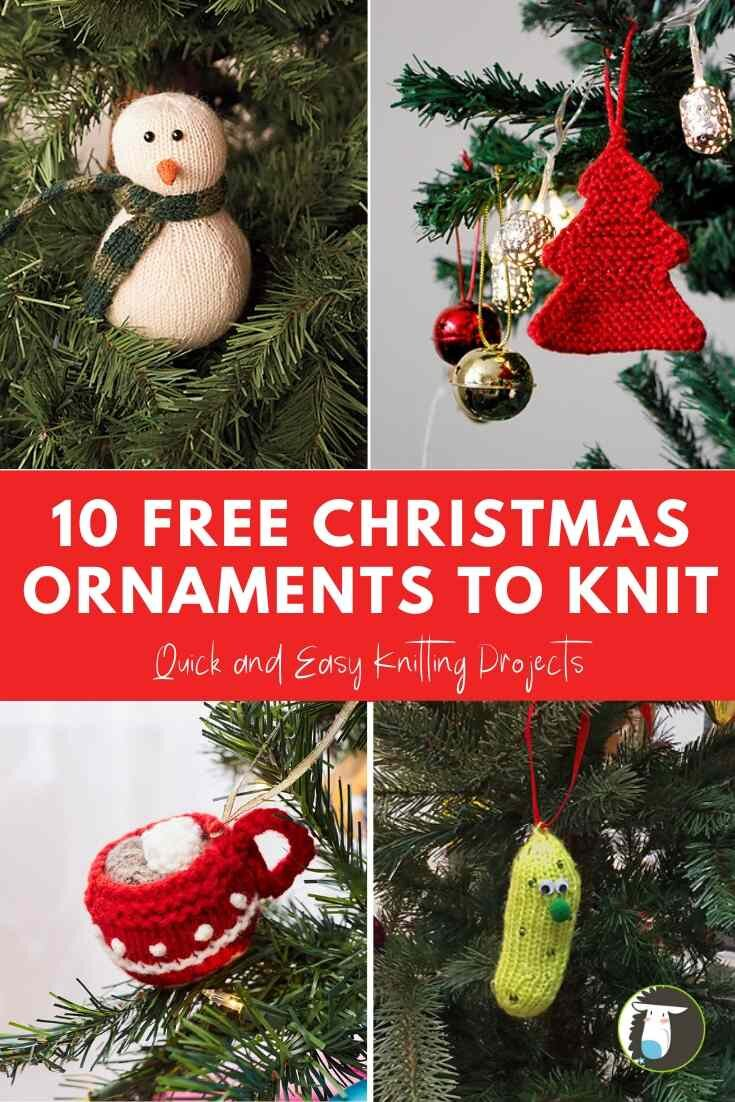 10 Free Christmas Ornament Knitting Patterns Blog Nobleknits