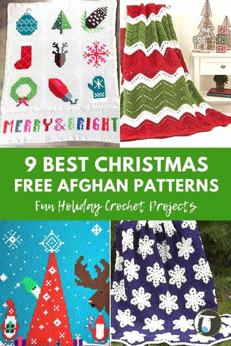 9 Best Christmas Afghans Free Crochet Patterns Blog Nobleknits