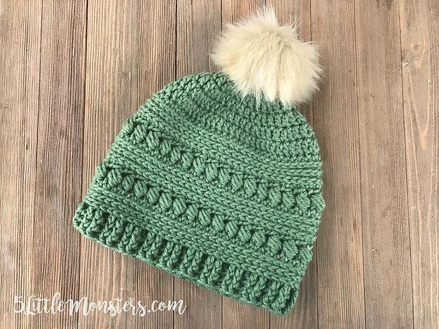 Merino Wool Crochet Hat